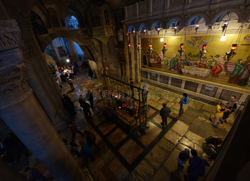 Kirche vom heiligen begraben, Israel stockbilder