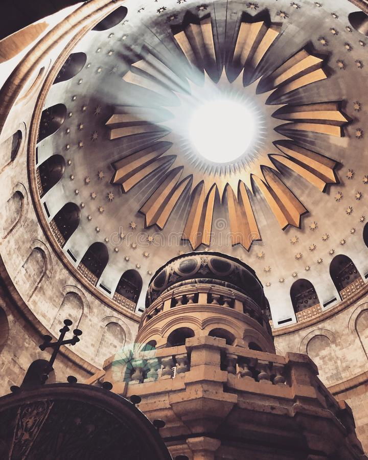 Kirche vom heiligen begraben von Jerusalem stockbilder