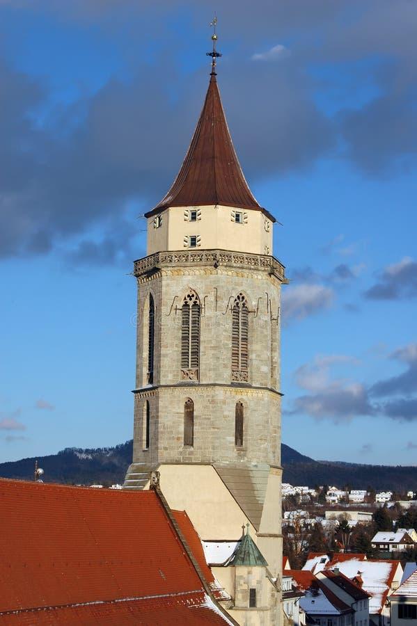 Kirche von Balingen stockbild