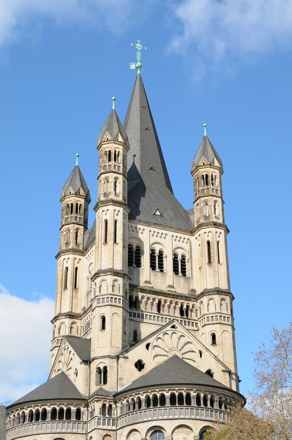 Kirche von Bruttostr. Martin in Köln, Deutschland lizenzfreie stockbilder