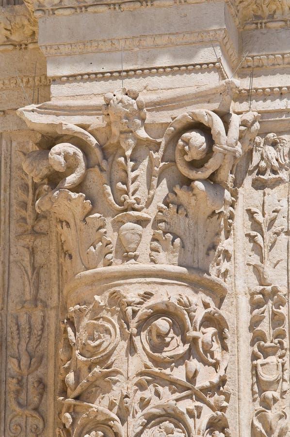 Kirche von degli Angeli St. Maria. Lecce. Puglia. Italien. stockbilder