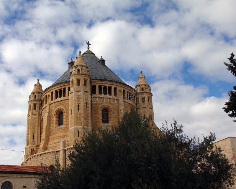 Kirche von Dormition auf dem Mount Zion lizenzfreies stockbild