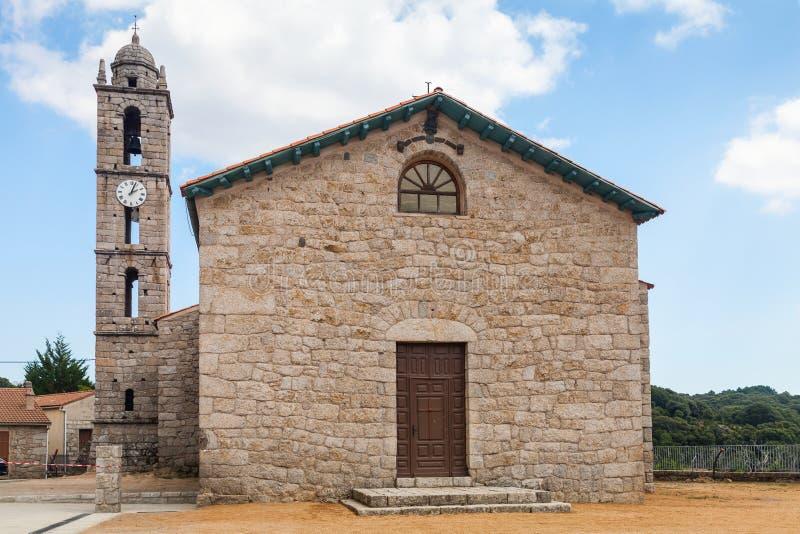 Kirche von Heilig-Georges, Quenza, Süd-Korsika lizenzfreies stockfoto