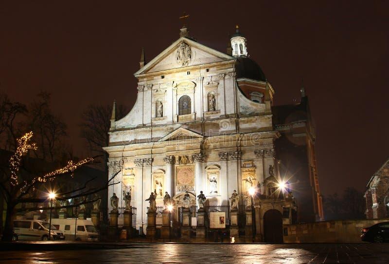 Kirche von Heiligem Peter und von Paul in Krakau lizenzfreies stockbild