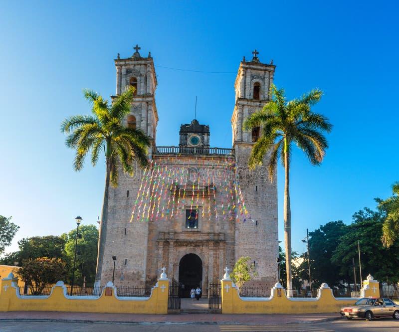 Kirche von Heiligem Servatius Sans Servacio in Valladolid, Yucatan, Mexiko lizenzfreie stockfotos