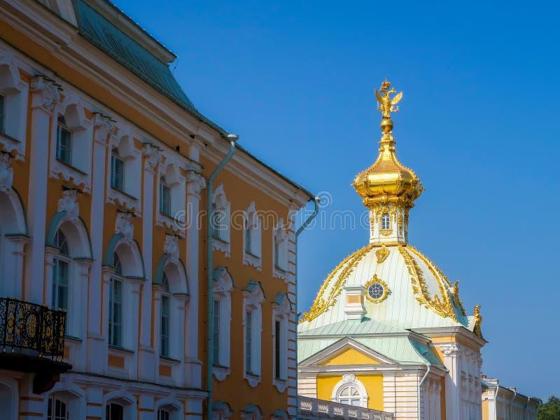 Kirche von Heiligen Peter und Paul in Peterhof-Palast, St Petersburg, Russland lizenzfreie stockfotos