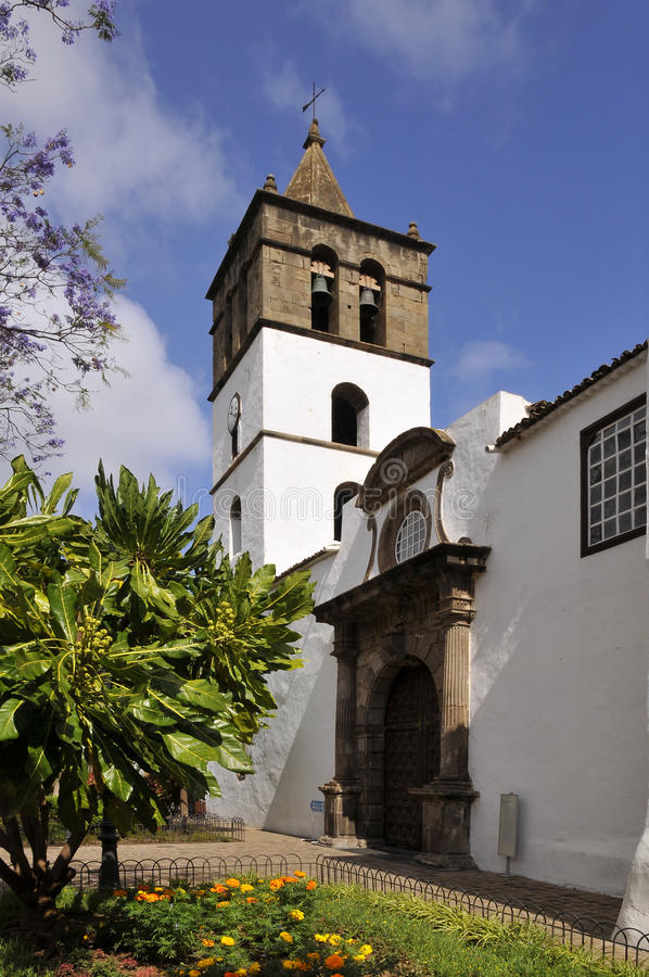 Kirche von Icod de Los Vinos bei Tenerife lizenzfreies stockbild