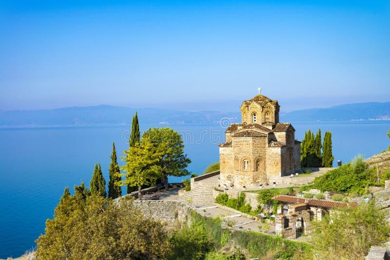 Kirche von Johannes bei Kaneo, Ohrid, Mazedonien lizenzfreies stockbild