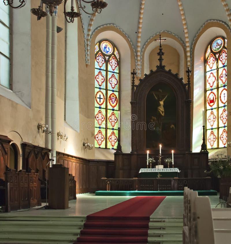 Kirche von Johannes in Cesis, Lettland stockfotos