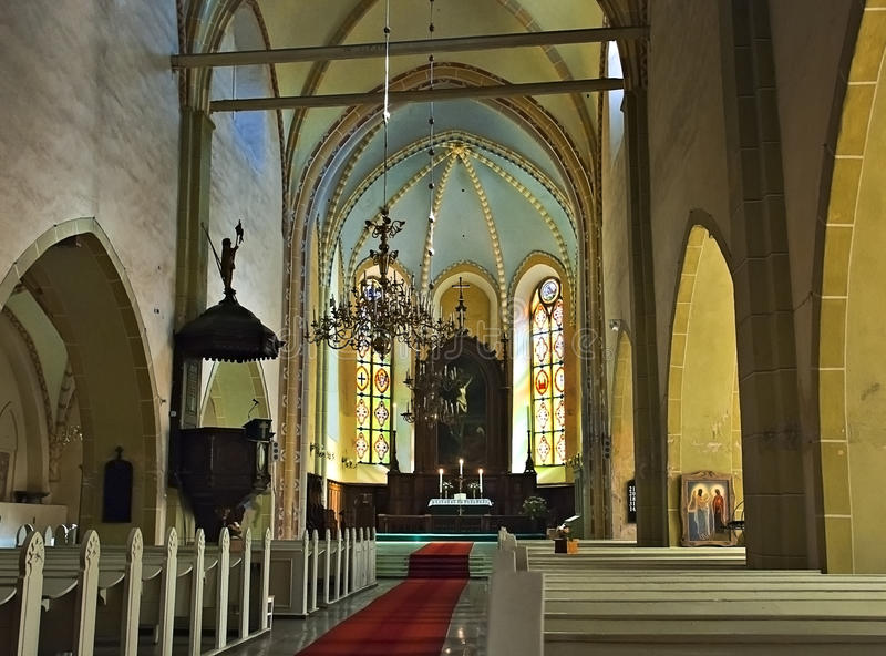Kirche von Johannes in Cesis, Lettland, Europa stockfoto