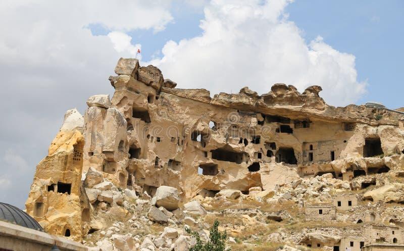 Kirche von Johannes der Baptist in Cavusin-Dorf, Cappadocia stockfotografie