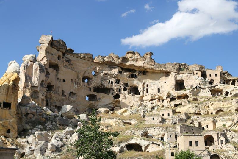Kirche von Johannes der Baptist in Cavusin-Dorf, Cappadocia lizenzfreie stockfotos