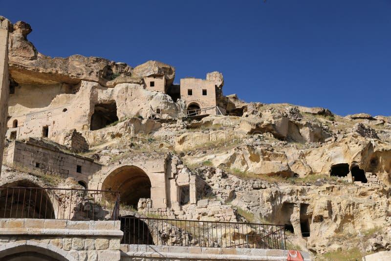 Kirche von Johannes der Baptist in Cavusin-Dorf, Cappadocia stockbild
