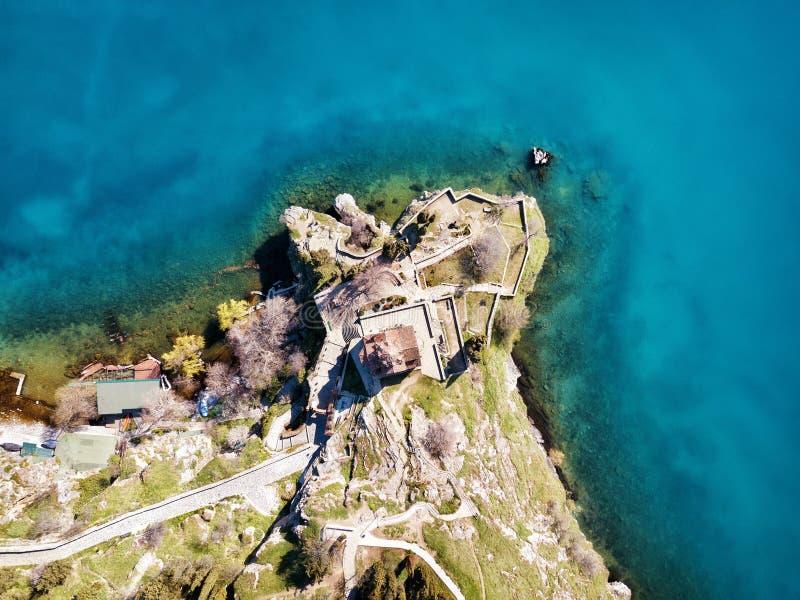 Kirche von Johannes der Theologe - bei Kaneo, Ohrid, Mazedonien stockfoto