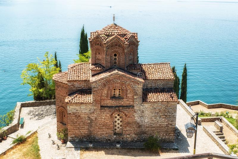 Kirche von Johannes von Kanevo in Ohrid, Mazedonien lizenzfreies stockfoto