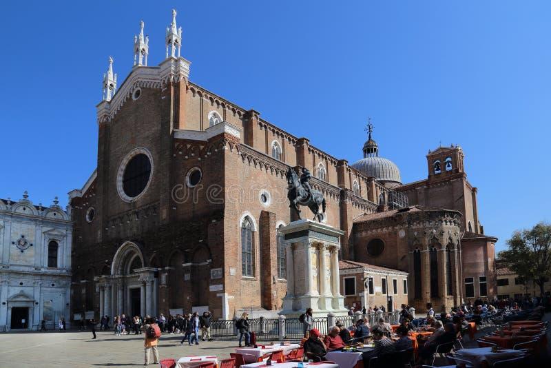 Kirche von John und von Paul in Venedig, Italien lizenzfreies stockbild