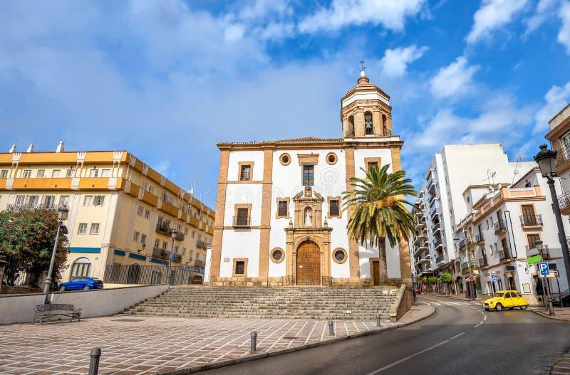 Kirche von La Merced in Ronda Màlaga-Provinz, Andalusien, Spanien lizenzfreie stockbilder