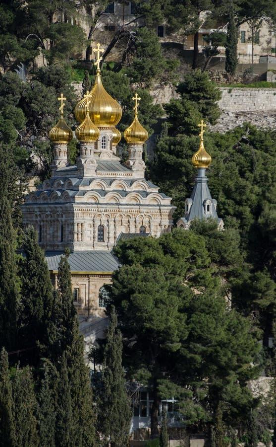 Kirche von Maria Magdalena jerusalem israel lizenzfreie stockfotografie