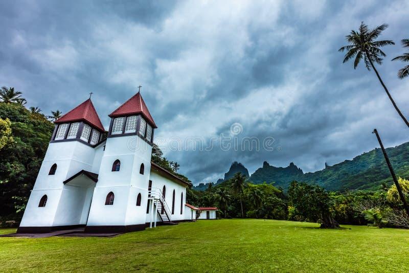 Kirche von moorea Insel lizenzfreies stockfoto