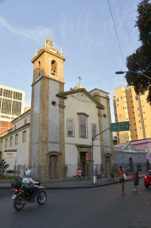 Kirche von Nossa Senhora tun Carmo DA Lapa stockbilder