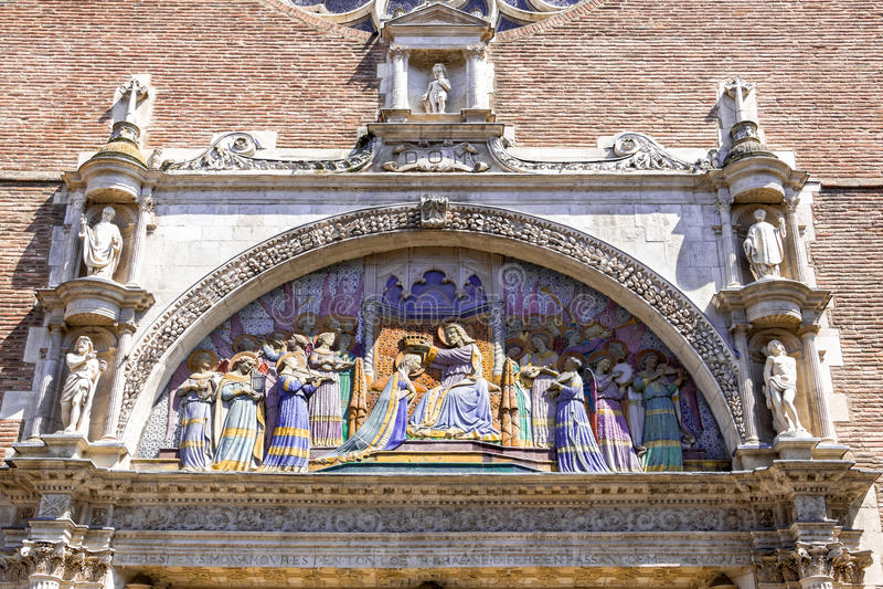 Kirche von Notre-Dame-La Dalbade in Toulouse stockfotos