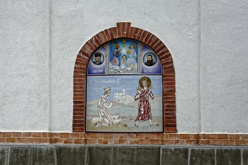 Kirche von Rasinari, Rasinari stockfotografie