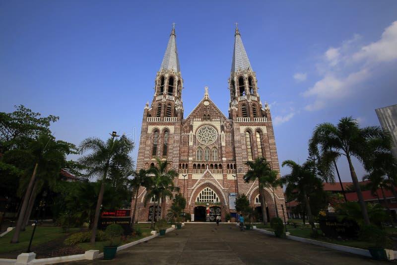 Kirche von ` s Christus St Mary Kathedrale, Rangun stockfotografie