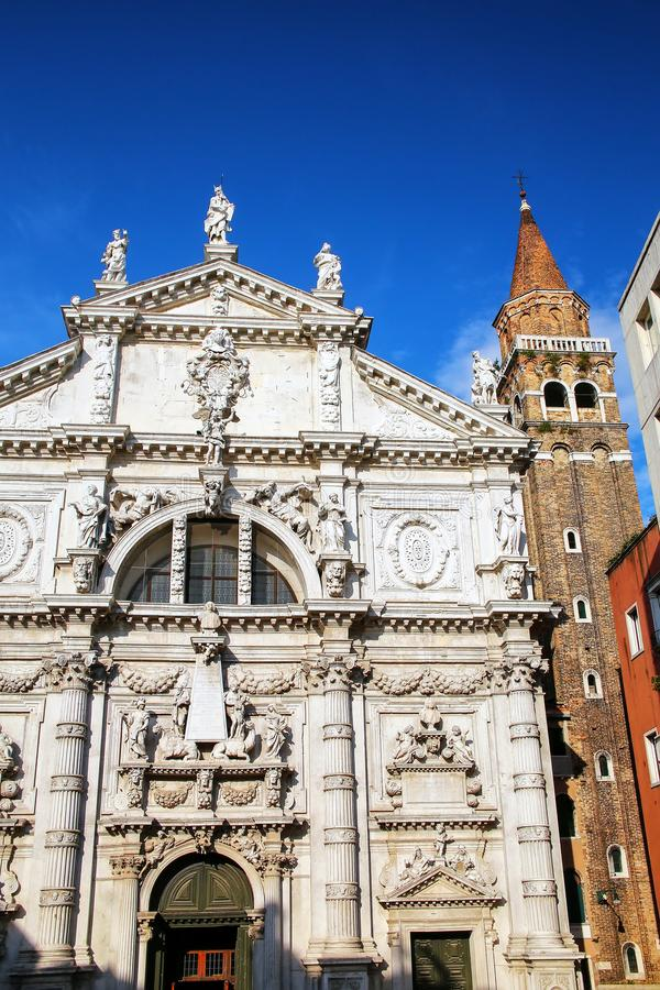 Kirche von San Moise in Venedig, Italien stockfotos