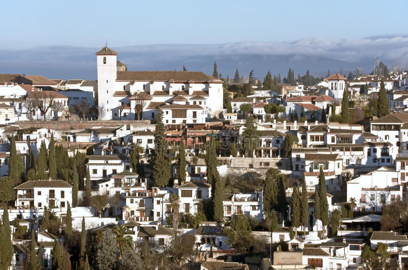 Kirche von San Nicolás, Granada stockfotografie