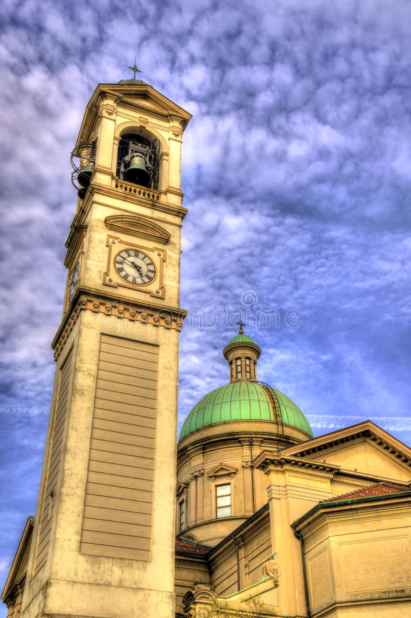 Kirche von San Vitale in Chiasso stockbilder