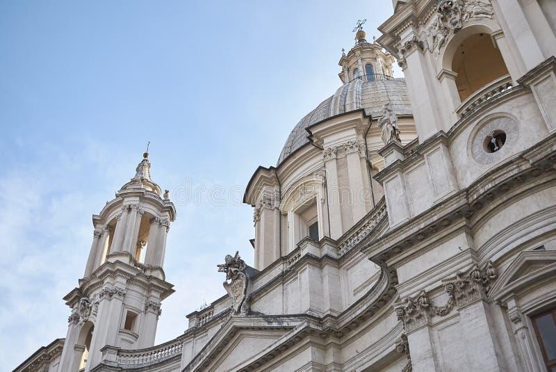 Kirche von Sant Agnese in Agone stockbild