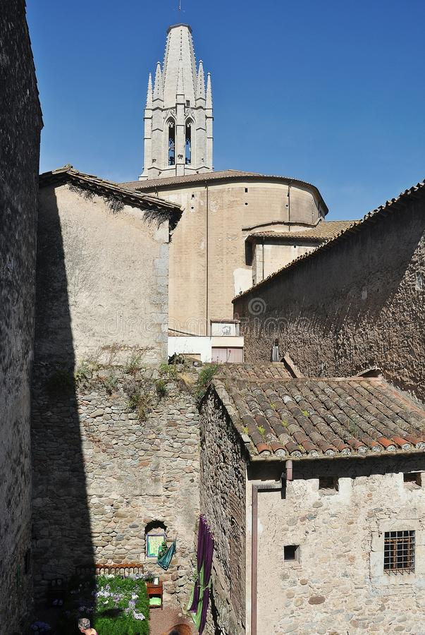 Kirche von Sant Feliu stockfoto