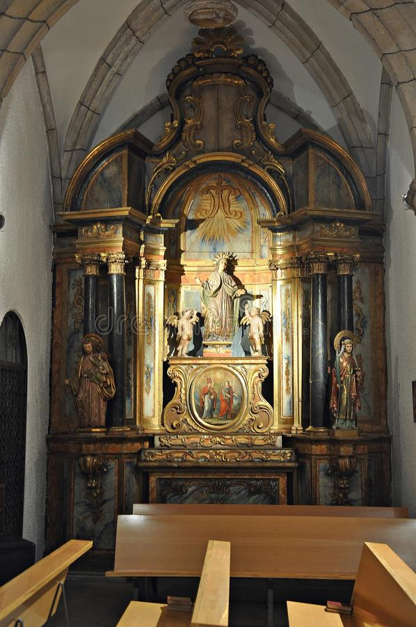 Kirche von Sant Sadurnà stockfotos