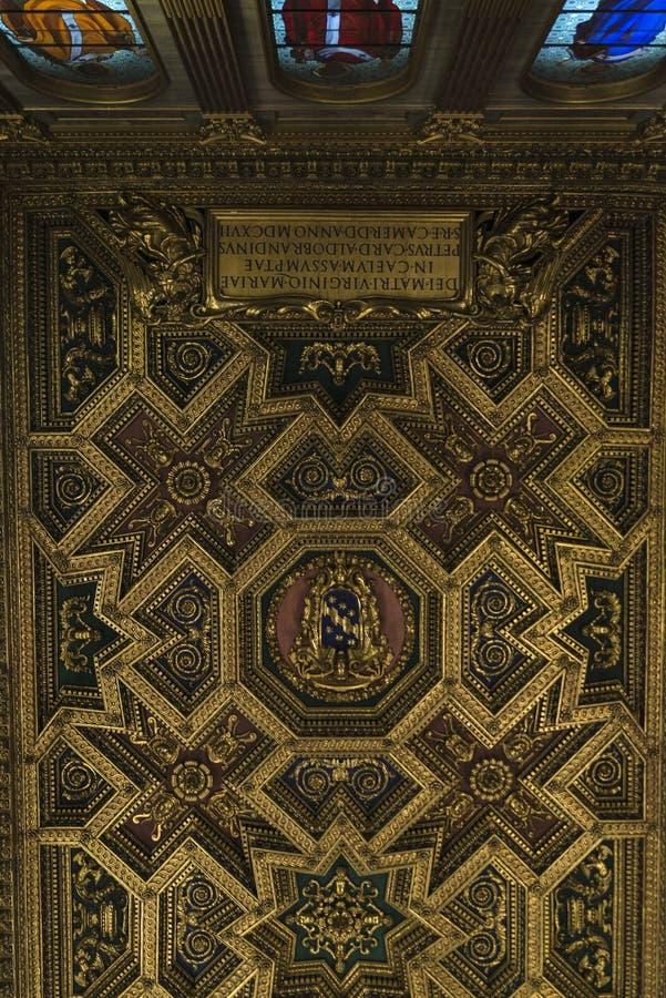 Kirche von Santa Cecilia in Trastevere, Rom, Italien lizenzfreies stockfoto