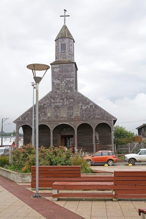 Kirche von Santa Maria de Loreto bei Achao, Quinchao-Insel, Chile lizenzfreies stockfoto