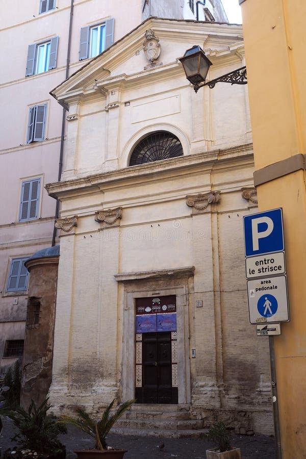 Kirche von Santa Maria in Grotta Pinta in Rom, Italien stockfotos