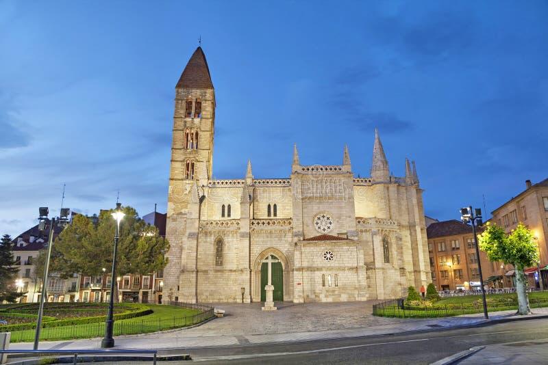 Kirche von Santa Maria La Antigua in Valladolid stockfotografie