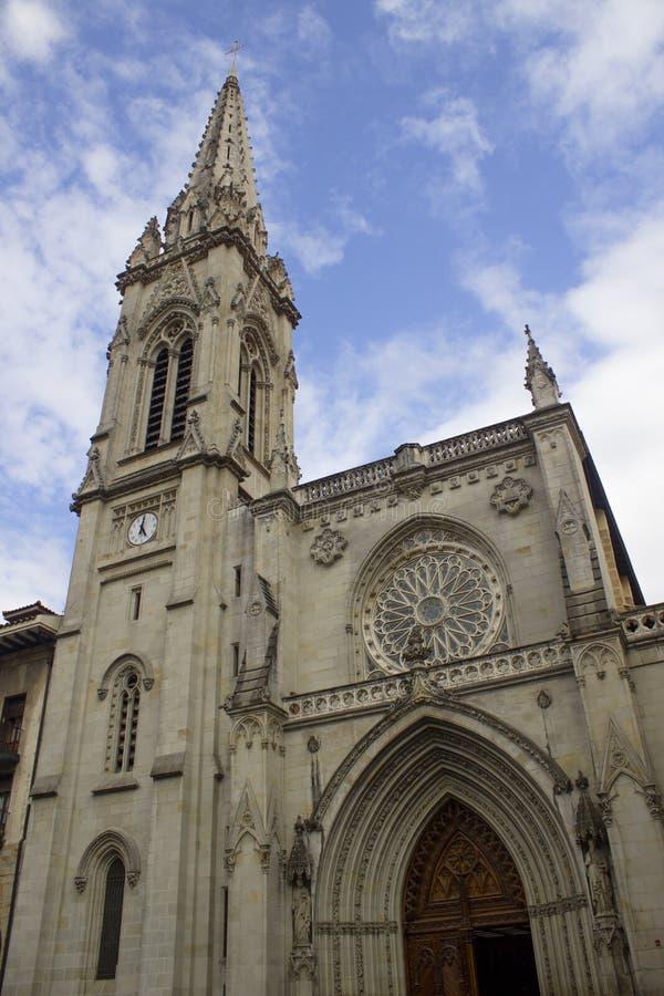 Kirche von Santiago, Bilbao stockbilder