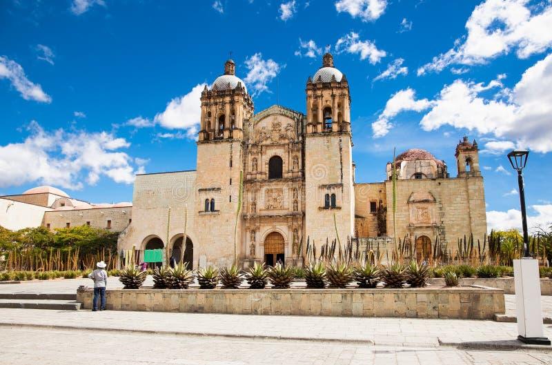 Kirche von Santo Domingo de Guzman in Oaxaca, Mexiko stockfotografie