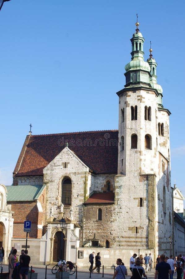 Kirche von St Andrew in der alten Stadt Krakau, Polen lizenzfreies stockfoto