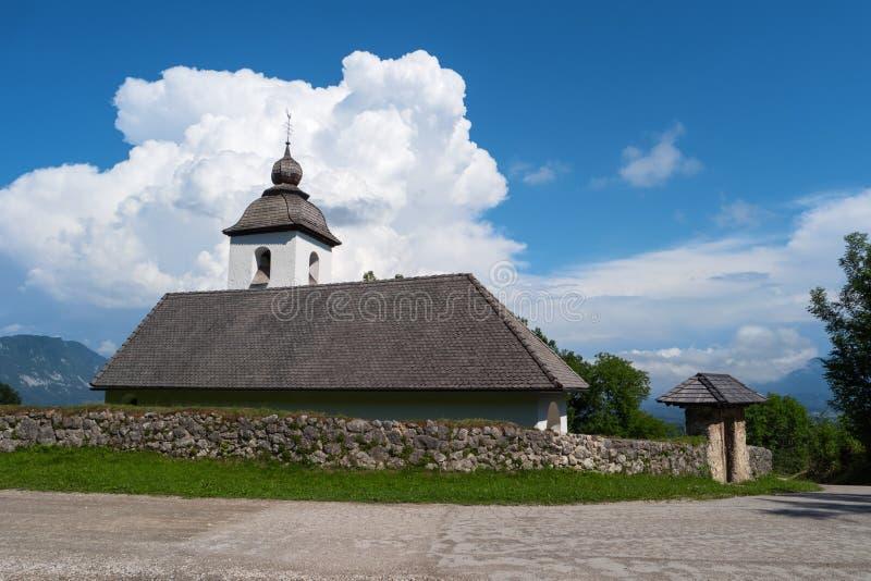 Kirche von St. Catherine in Zasip, Slowenien, Europa stockfotos