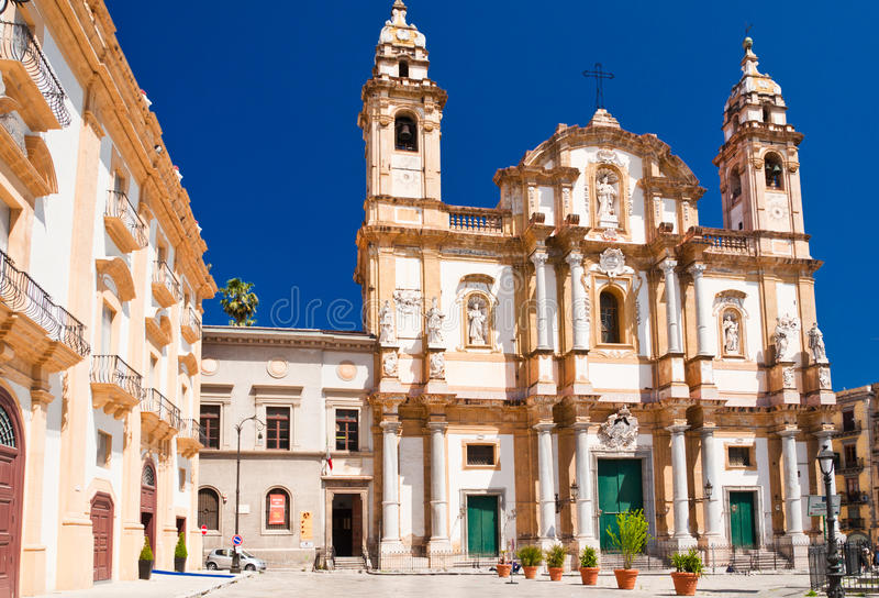 Kirche von St Dominic in Palermo, Italien stockfotografie