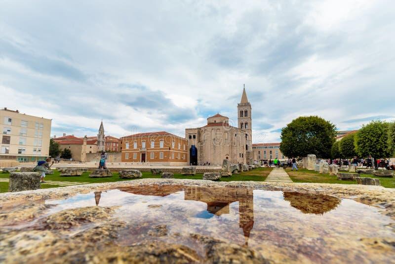 Kirche von St. Donatus, Zadar lizenzfreies stockbild