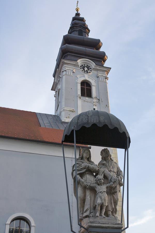 Kirche von St James in Prelog, Kroatien stockfotografie