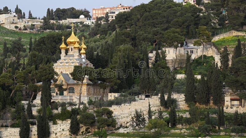 Kirche von St. Mary Magdalene, Jerusalem, Israel lizenzfreies stockfoto