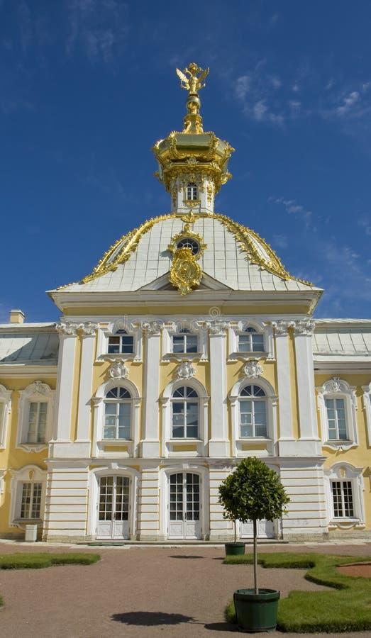 Kirche von St Peter und von Paul in Peterhof, Russland lizenzfreie stockfotografie