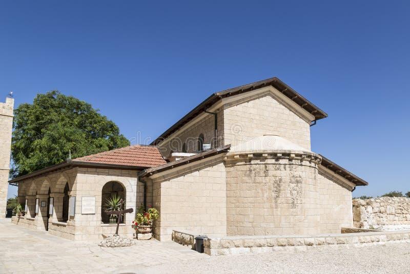 Kirche von St. Stefan im Kloster Beit Jamal israel lizenzfreie stockfotos