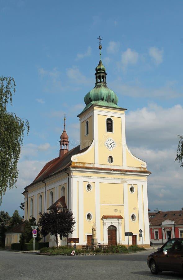 Kirche von Veverska Bityska stockbilder