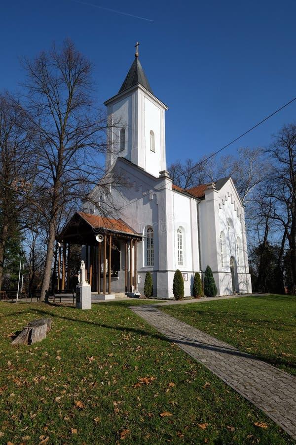 Kirche von Visitation von Jungfrau Maria in Sisak, Kroatien stockbild