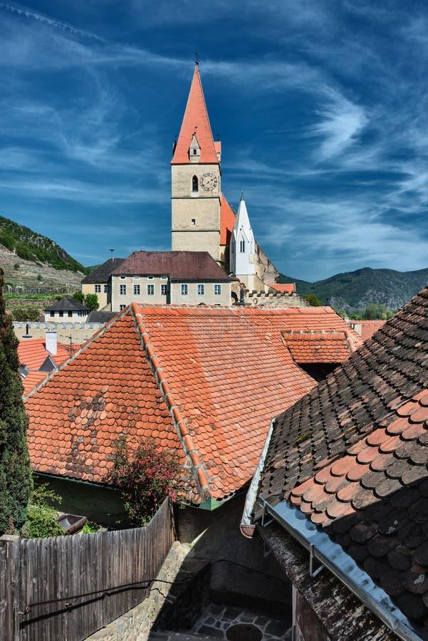 Kirche von Weissenkirchen, Österreich stockfoto